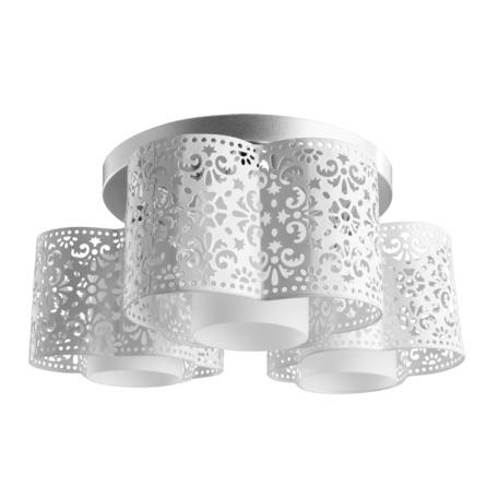 Потолочная люстра Arte Lamp Helen A8348PL-3WH, 3xE27x40W, серебро, белый, металл