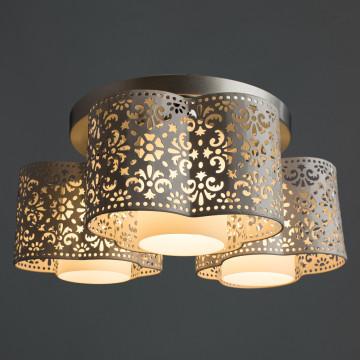 Потолочная люстра Arte Lamp Helen A8348PL-3WH, 3xE27x40W, серебро, белый, металл - миниатюра 2