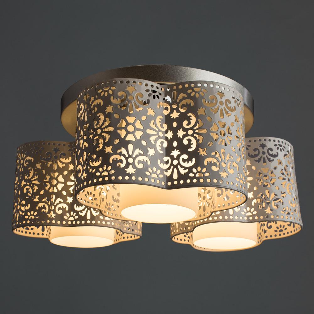 Потолочная люстра Arte Lamp Helen A8348PL-3WH, 3xE27x40W, серебро, белый, металл - фото 2