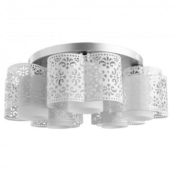 Потолочная люстра Arte Lamp Helen A8348PL-5WH, 5xE27x40W, серебро, белый, металл