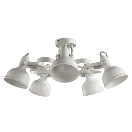 Потолочная люстра с регулировкой направления света Arte Lamp Martin A5216PL-5WG, 5xE14x40W, белый с золотой патиной, металл