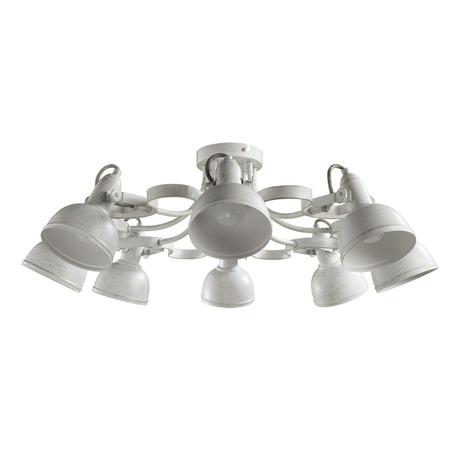 Потолочная люстра с регулировкой направления света Arte Lamp Martin A5216PL-8WG, 8xE14x40W, белый с золотой патиной, металл - миниатюра 1