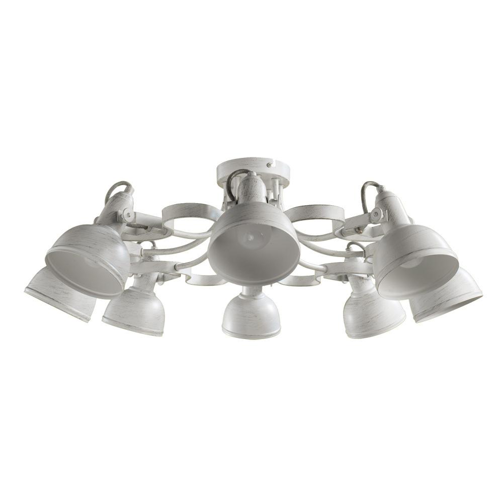 Потолочная люстра с регулировкой направления света Arte Lamp Martin A5216PL-8WG, 8xE14x40W, белый с золотой патиной, металл - фото 1