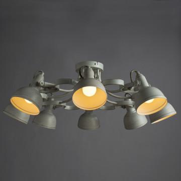 Потолочная люстра с регулировкой направления света Arte Lamp Martin A5216PL-8WG, 8xE14x40W, белый с золотой патиной, металл - миниатюра 2