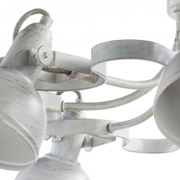 Потолочная люстра с регулировкой направления света Arte Lamp Martin A5216PL-8WG, 8xE14x40W, белый с золотой патиной, металл - миниатюра 3