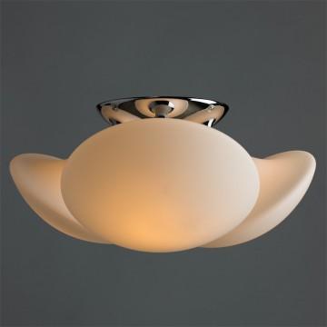 Потолочная люстра Arte Lamp Aqua A2550PL-3CC, IP44, 3xE27x60W, хром, белый, металл, стекло