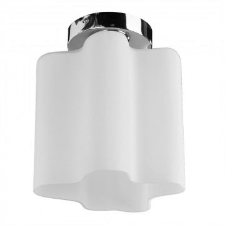 Потолочный светильник Arte Lamp Serenata A3479PL-1CC, 1xE27x40W, хром, белый, металл, стекло
