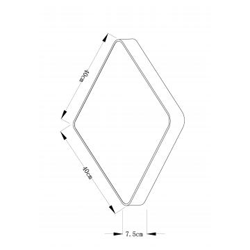 Схема с размерами Arte Lamp A7210PL-3CC