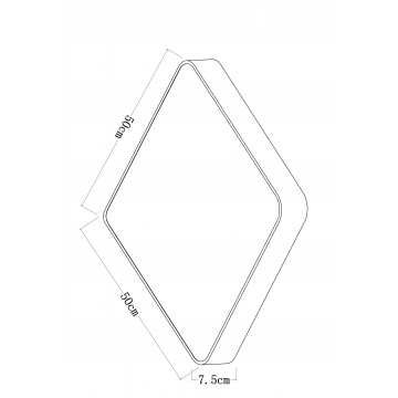 Схема с размерами Arte Lamp A7210PL-4CC
