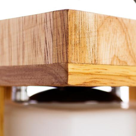 Потолочный светильник Arte Lamp Woods A8252PL-1BR, 1xE27x60W, коричневый, белый, дерево, стекло - миниатюра 3