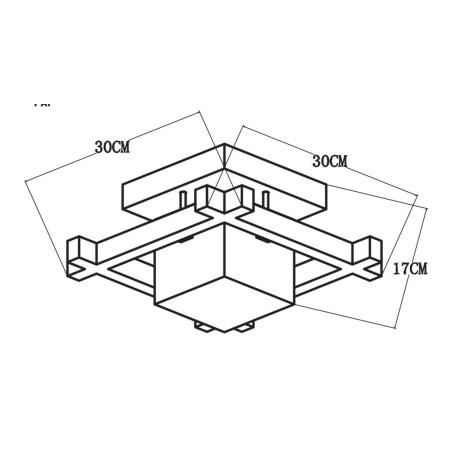 Схема с размерами Arte Lamp A8252PL-1BR