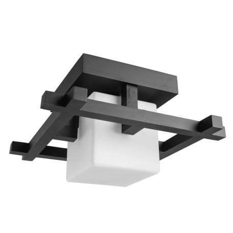 Потолочный светильник Arte Lamp Woods A8252PL-1CK, 1xE27x60W, венге, белый, дерево, стекло