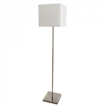 Торшер Arte Lamp Hall A9247PN-1AB, 1xE27x60W, бронза, белый, металл, текстиль