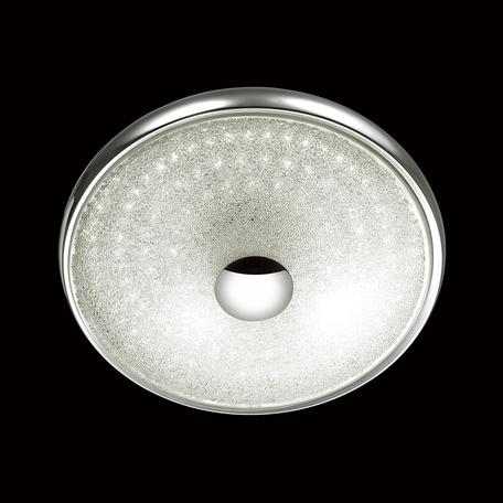 Потолочный светодиодный светильник Odeon Light Brilla 4059/45CL, LED 45W, 4000K (дневной), хром, прозрачный, металл, стекло