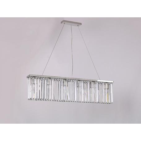 Подвесной светильник Newport 10116+6/S, 12xE14x60W, хром, прозрачный, металл, хрусталь