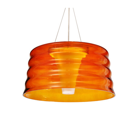 Подвесной светильник Lumina Deco Caprise LDP 6020 GD, 1xE27x60W, оранжевый, стекло