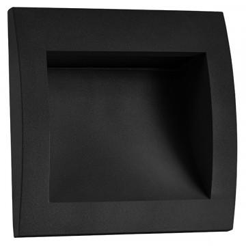 Встраиваемый настенный светодиодный светильник Lightstar Estra 383672, IP55, LED 5W 3000K 200lm, черный, металл