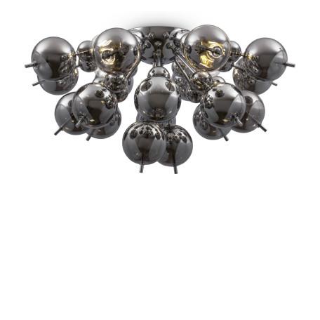 Светильник Maytoni Bolla MOD133CL-04CH, 4xE27x60W, хром, дымчатый, металл, стекло