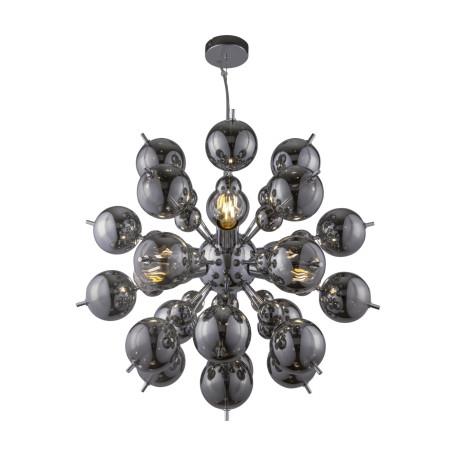 Светильник Maytoni Bolla MOD133PL-06CH, 6xE27x60W, хром, дымчатый, металл, стекло