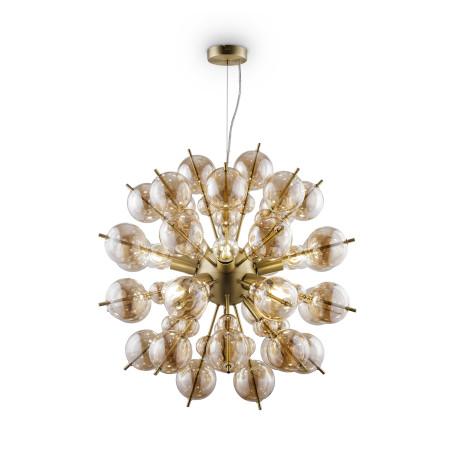 Светильник Maytoni Bolla MOD133PL-08BS, 8xE27x60W, латунь, янтарь, металл, стекло