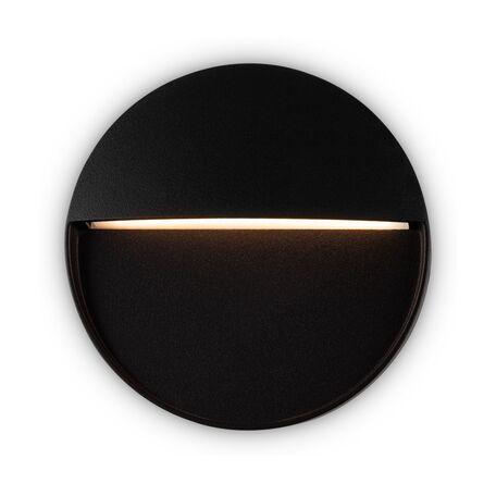 Светодиодный светильник Maytoni Mane O046SL-L4B3K, IP54, LED 4W 3000K 150lm CRI80, черный, металл, пластик