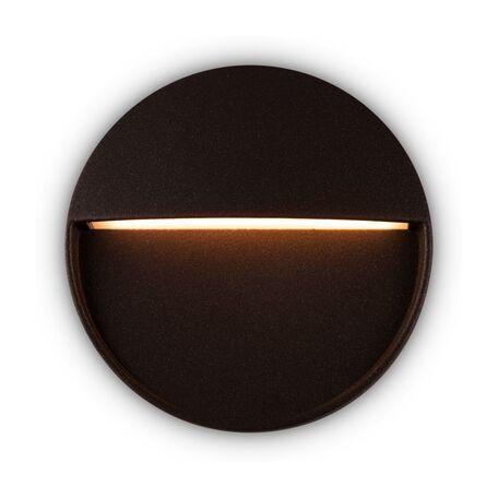 Светодиодный светильник Maytoni Mane O046SL-L4BR3K, IP54, LED 4W 3000K 150lm CRI80, темно-коричневый, металл, пластик