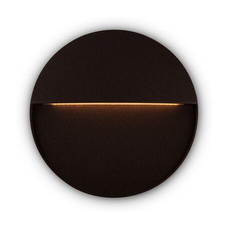 Светодиодный светильник Maytoni Mane O046SL-L7BR3K, IP54, LED 7W 3000K 400lm CRI80, темно-коричневый, металл, пластик