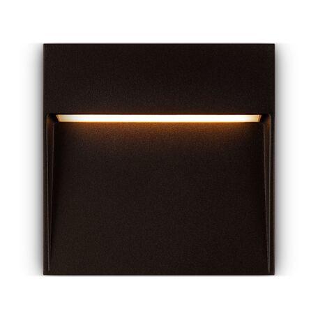 Светодиодный светильник Maytoni Mane O047SL-L4BR3K, IP54, LED 4W 3000K 150lm CRI80, коричневый, металл