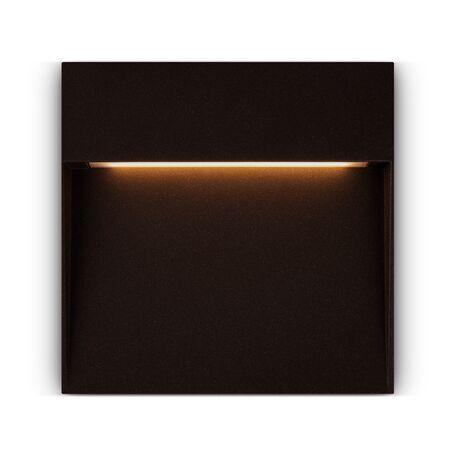 Светодиодный светильник Maytoni Mane O047SL-L7BR3K, IP54, LED 7W 3000K 350lm CRI80, темно-коричневый, металл, пластик