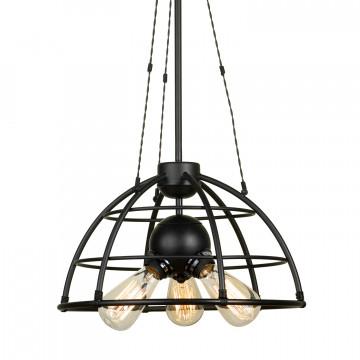 Подвесной светильник Lussole Loft Buffalo LSP-9994, IP21, 3xE27x60W, черный, металл