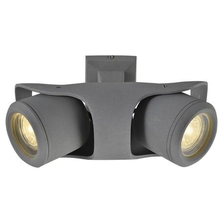 Потолочный светильник с регулировкой направления света Lussole Loft Dakota LSP-9939, IP21, 2xGU10x50W, серый, металл