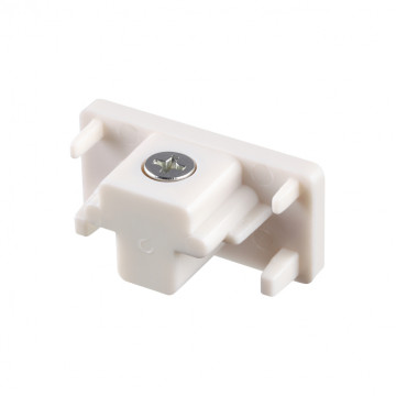 Концевая заглушка для шинопровода Novotech Port 135016, белый, пластик