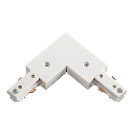 L-образный соединитель для шинопровода Novotech Port 135008, белый, пластик