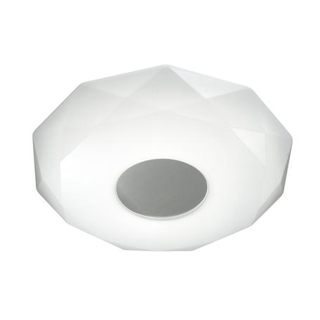 Потолочный светодиодный светильник Sonex Piola 2013/D, IP43, LED 48W 2360lm, белый, серебро, металл, пластик