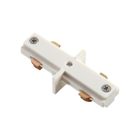 Внутренний прямой соединитель для шинопровода Novotech Port 135006, белый, пластик