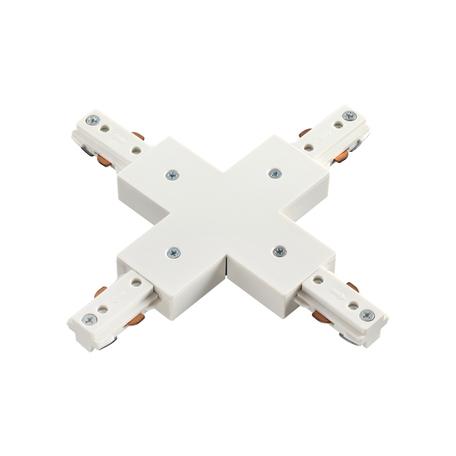 X-образный соединитель для шинопровода Novotech Port 135012, белый, пластик