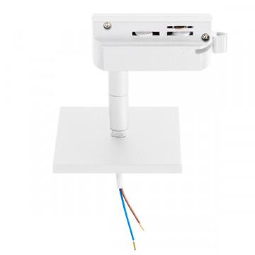 Крепление-адаптер для монтажа светильника на трек Lightstar Asta 592286, белый, металл
