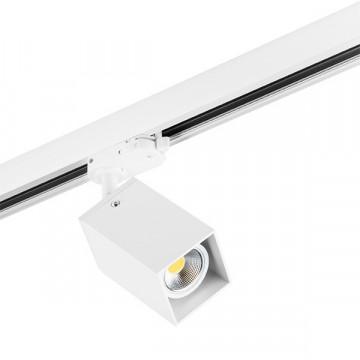 Крепление-адаптер для монтажа светильника на трек Lightstar Asta 594256, белый, металл