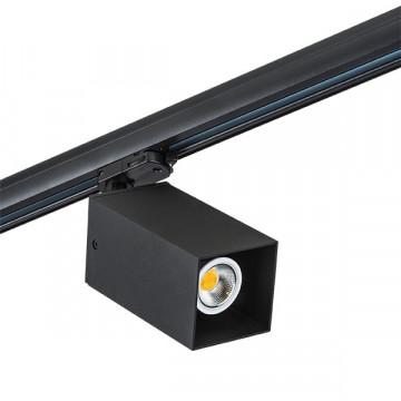 Крепление-адаптер для монтажа светильника на трек Lightstar Asta 594287, черный, металл