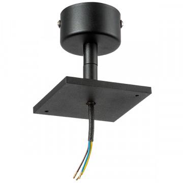 Основание потолочного светильника с регулировкой направления света Lightstar Rullo 590217, черный, металл