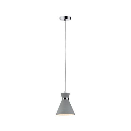 Подвесной светильник Paulmann Verve 70890, IP44, 1xE27x20W, хром, серый, металл, бетон