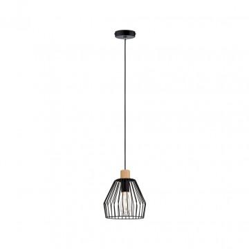 Подвесной светильник Paulmann Cameo 70891, IP44, 1xE27x20W, черный, металл, дерево