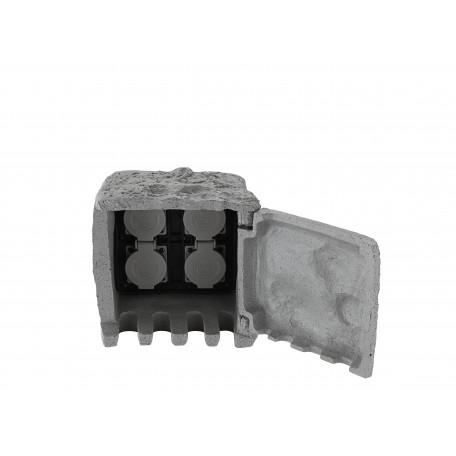 Блок розеток Globo Pietra I 37001-4, IP44, пластик