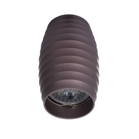 Потолочный светильник Lumina Deco Split LDC 8052-B SS-D70*H115 COFEE, 1xGU10x35W, коричневый, металл