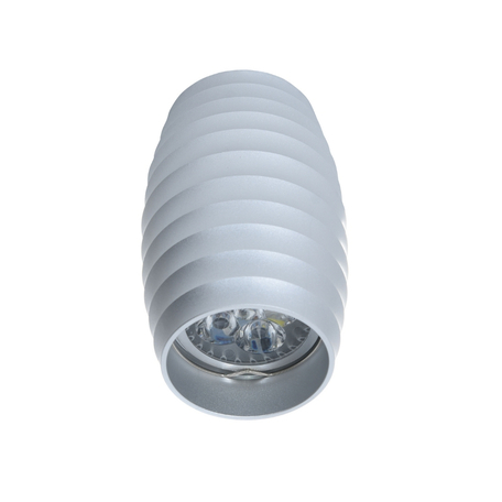 Потолочный светильник Lumina Deco Split LDC 8052-B SS-D70*H115 SL, 1xGU10x35W, серебро, металл