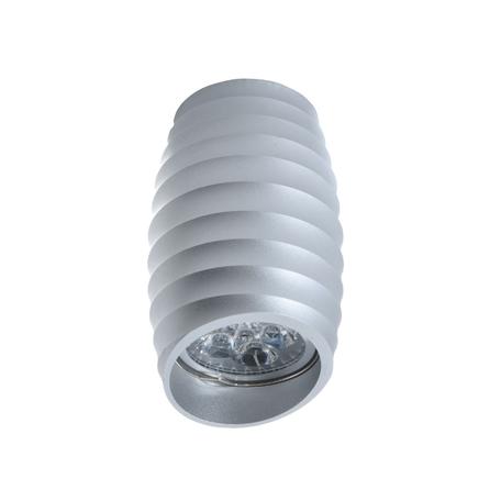 Потолочный светильник Lumina Deco Grost LDC 8052-C SS-D70*H115 SL, 1xGU10x35W, серебро, металл