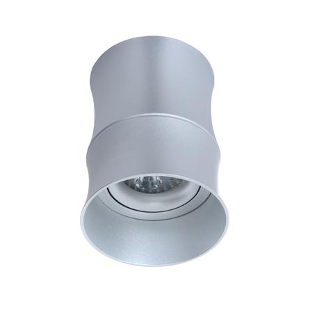 Потолочный светильник Lumina Deco Riston LDC 8053-C SS-D85*H115 SL, 1xGU10x35W, серебро, металл
