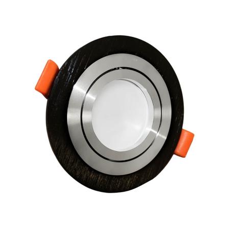 Встраиваемый светильник Lumina Deco Duka LDC 8062-JP-D90 BK+SL, 1xGU10x35W, черный, металл