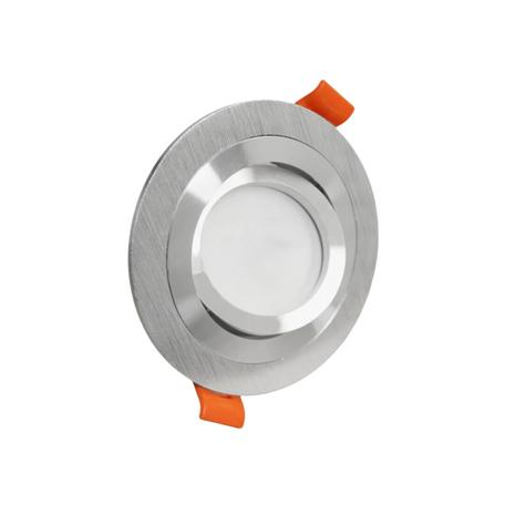 Встраиваемый светильник Lumina Deco Duka LDC 8062-JP-D90 SL, 1xGU10x35W, серебро, металл