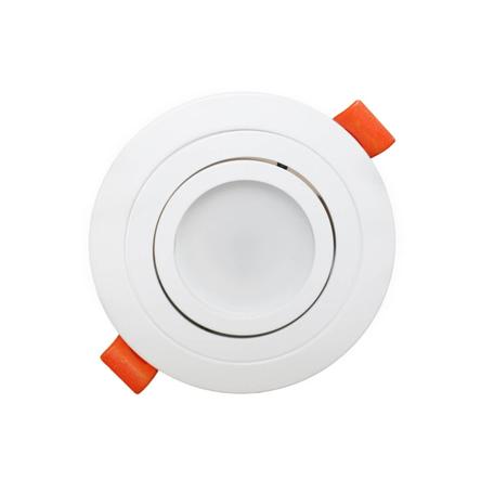 Встраиваемый светильник Lumina Deco Duka LDC 8062-JP-D90 WT, 1xGU10x35W, белый, металл